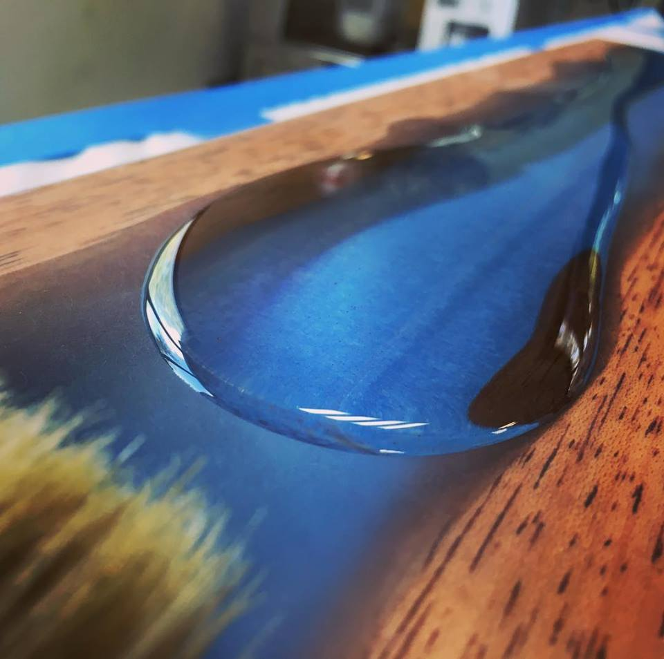 Table rivière epoxy WWA